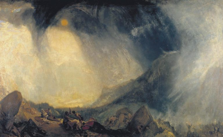 Snow Storm: Hannibal and his Army Crossing the Alps (1812), painted by Joseph Mallord William Turner